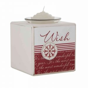CHRISTMAS WISH CANDLE T LITE HOLDER