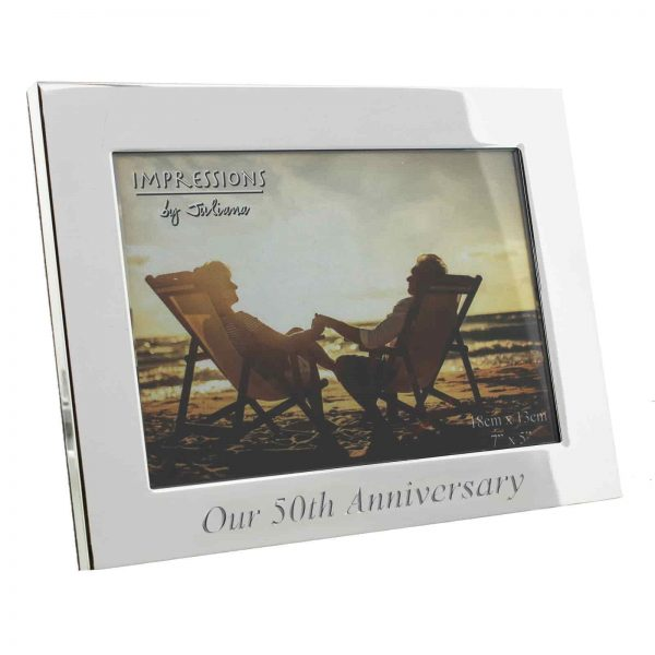 Silver plated Glden Wedding anniversary photo frame