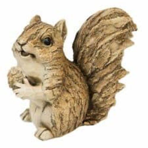 Naturecraft Wood effect Garden Squirrel Figurine