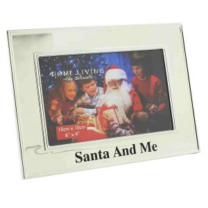 Santa And Me Christmas Silver Photo Frame