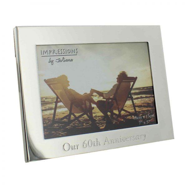 60th Diamond Wedding Anniversary Photo Frame