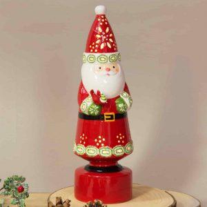 Ceramic Santa Standing LED Ornament