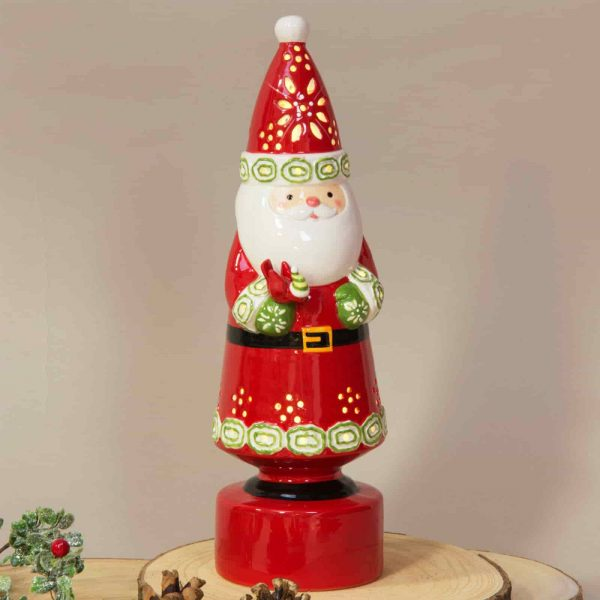 Ceramic Santa Standing LED Ornament