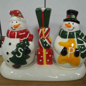 Christmas Snowman Salt & Pepper Set
