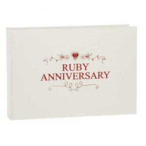 40th Ruby Wedding Anniversary Photo Album
