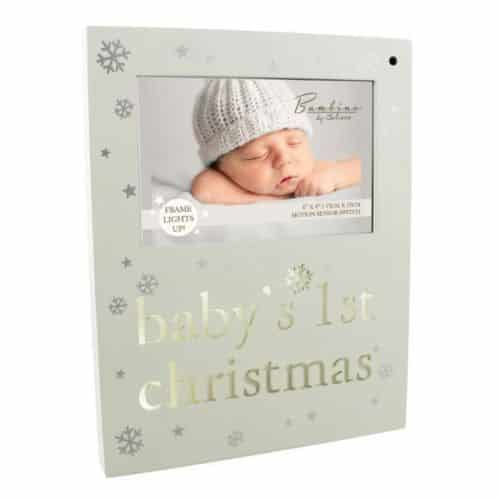 Bambino Baby's 1st Christmas Light Up Photo Frame
