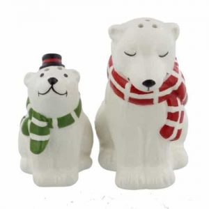 CHRISTMAS POLAR BEAR SALT & PEPPER