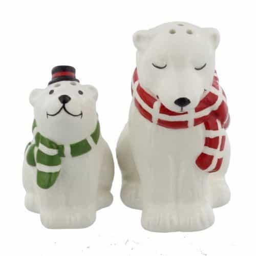 CHRISTMAS POLAR BEAR SALT & PEPPER
