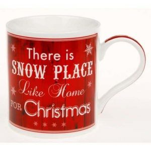 Snow Place Like Home For Christmas Fine China Mug