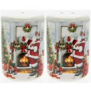 Mc Neil Santa by Fireplace Salt & Pepper