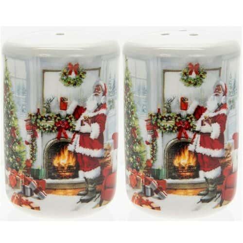 Mc Neil Santa by Fireplace Salt & Pepper