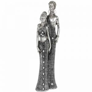 Masai African Couple figurine