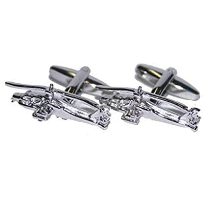 Apache Gunship Helicopter Rhodium Plated Cufflinks