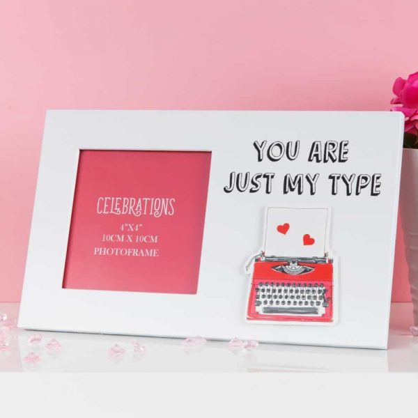 True Valentine You Are Just My Type Photo Frame