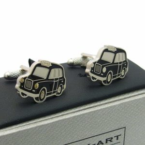 London Black Cab Cufflinks by Onyx-Art