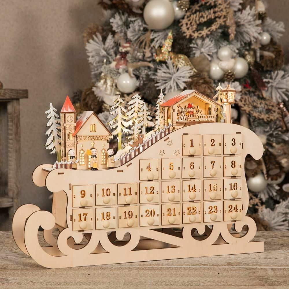 Christmas Village.Light Up Christmas Village Advent Calendar