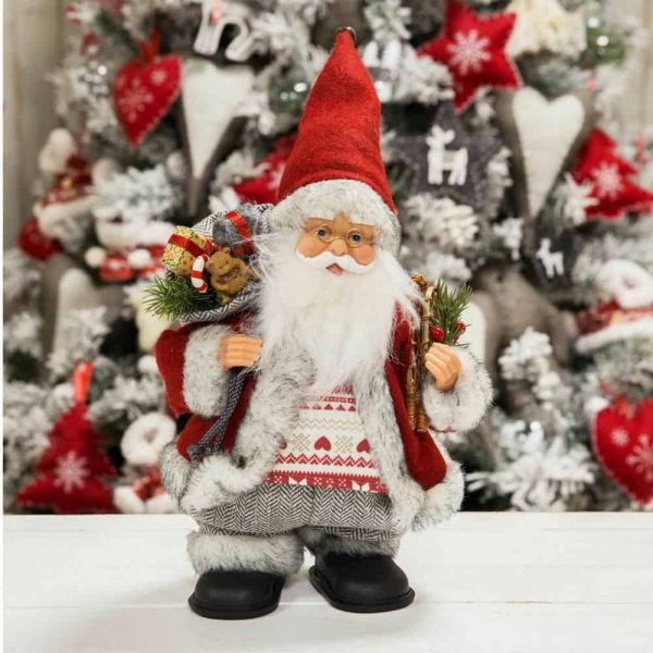 Musical Santa Christmas figurine