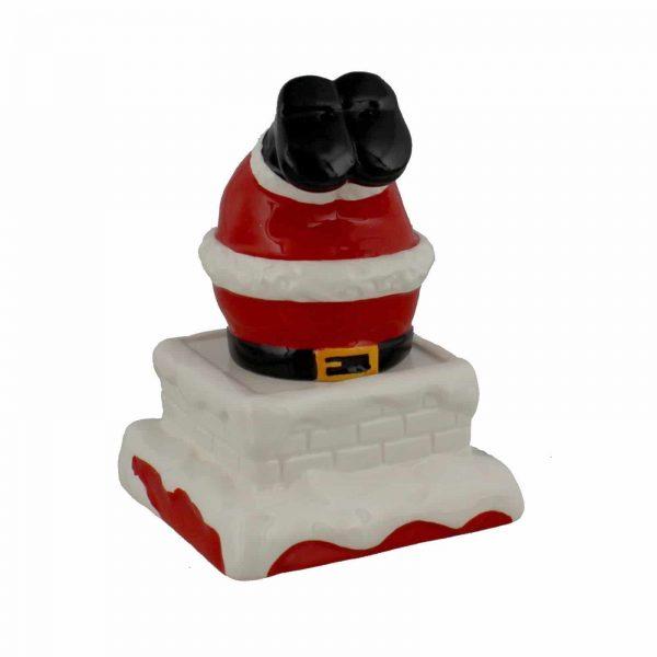 Winter Wonderland Santa In Chimney Cruet Set