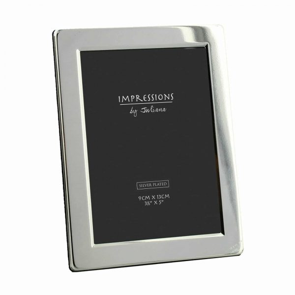 Impressions Silver Plated Flat Edge Photo Frame 3.5 X 5""