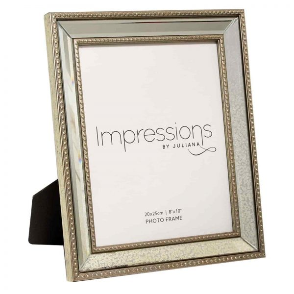 IMPRESSIONS MIRROR PATTERN PHOTO FRAME