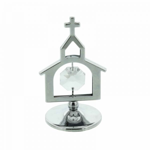 CRYSTOCRAFT SILVER PLATED CHURCH