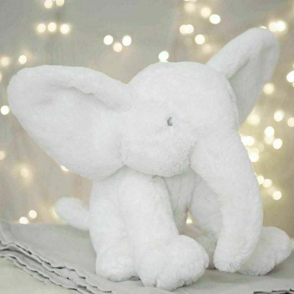 Bambino White Plush Elephant Large