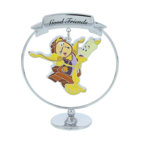 Disney Chrome Plated Cogsworth And Lumiere
