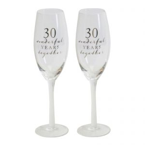 30TH WEDDING ANNIVERSARY CHAMPAGNE GLASS
