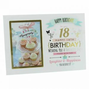 18th Birthday Girl Photo Frame by Signography 4 x 6""
