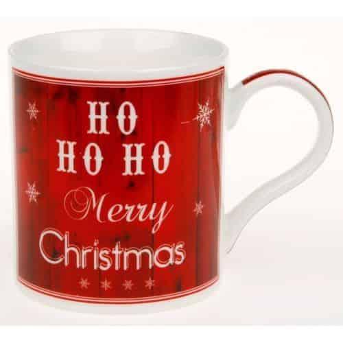 Christmas Coffee Mug HO HO HO Fine china mug