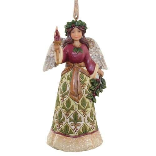 Heartwood Creek Victorian Holly Angel Christmas Hanging Ornament