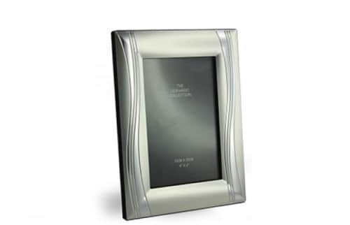 "Leonardo Collection Silver Plated 2 Tone Photo Frame 4x6"""