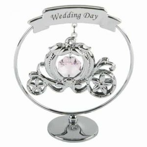 Wedding Day Carriage Crystal Gift from Crystocraft