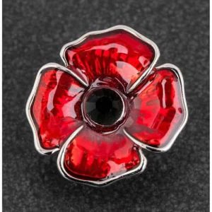 EQUILIBRIUM POPPY PIN BROOCH