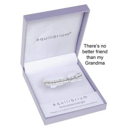 Equilibrium Silver Plated Grandma Bangle