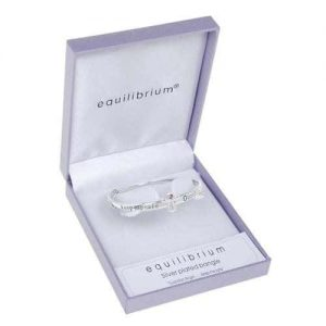 Equilibrium Silver Plated Guardian Angel Bangle