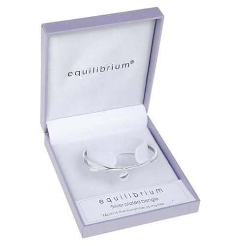 Equilibrium Silver Plated MUM Bangle