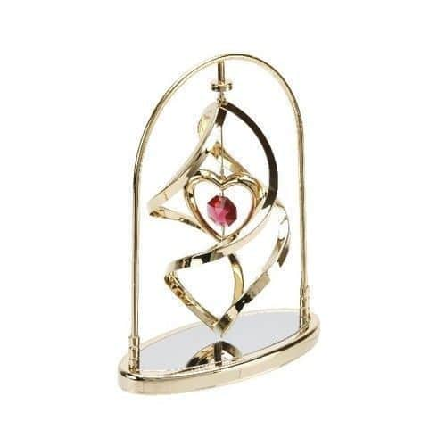 Crystocraft red Heart Spiral With Strass Swarovski Crystal Elements