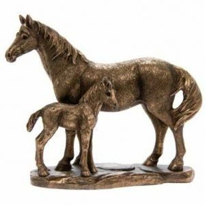 Reflections Bronze Effect Horse & Foal Figurine
