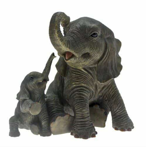 Out Of Africa Mother & Calf Baby African Elephant Playtime Figurine