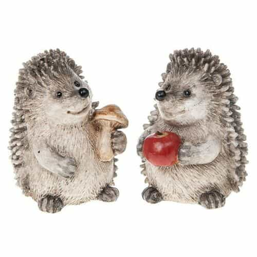 Set Of 2 Happy Hedgehogs Small Figurine
