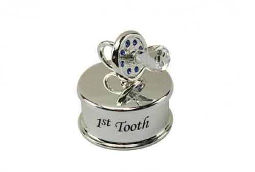 Silver Plated 1st Tooth Keepsake Box