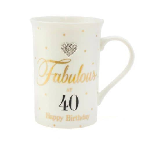 Mad Dots Fabulous 40th Birthday Mug