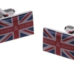 Union Jack Flag Cufflinks by Onyx Art