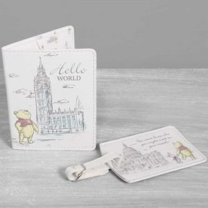 DISNEY CHRISTOPHER ROBIN PASSPORT HOLDER & LUGGAGE TAG