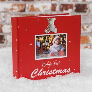 MY 1ST CHRISTMAS PERSONALISABLE PHOTO ALBUM - 24 PAGES