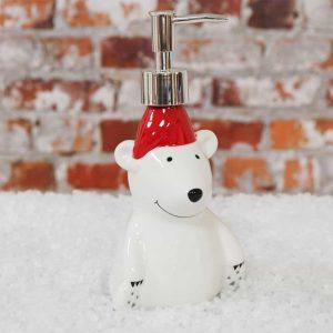 CHRISTMAS POLAR BEAR SOAP DISPENSER