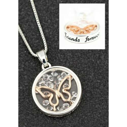 Equilibrium Butterfly Friends Forever Necklace