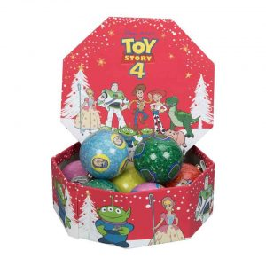 Disney Toy Story 4 Set of 7 Glitter Christmas Baubles