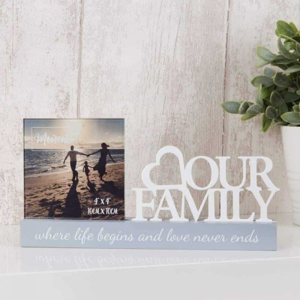 Celebrations Photo Frame Our Family 4 x 4 ""